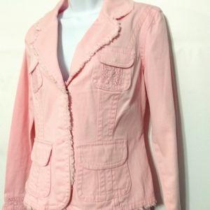 Live a Little pink Blazer Medium